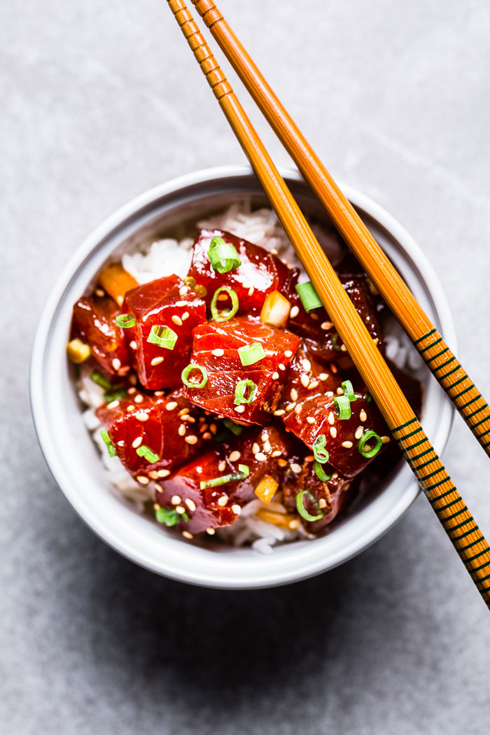 Simple Ahi Tuna Poke Bowl Recipe