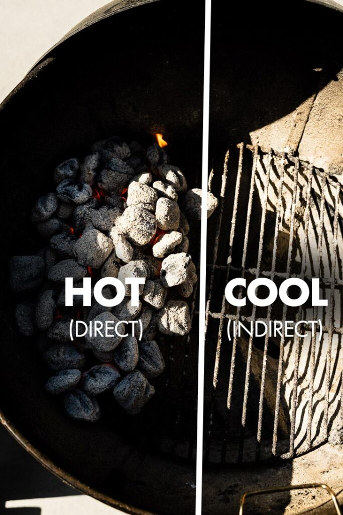 two zone grilling setup