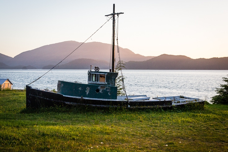 view from orca lodge cordova alaska