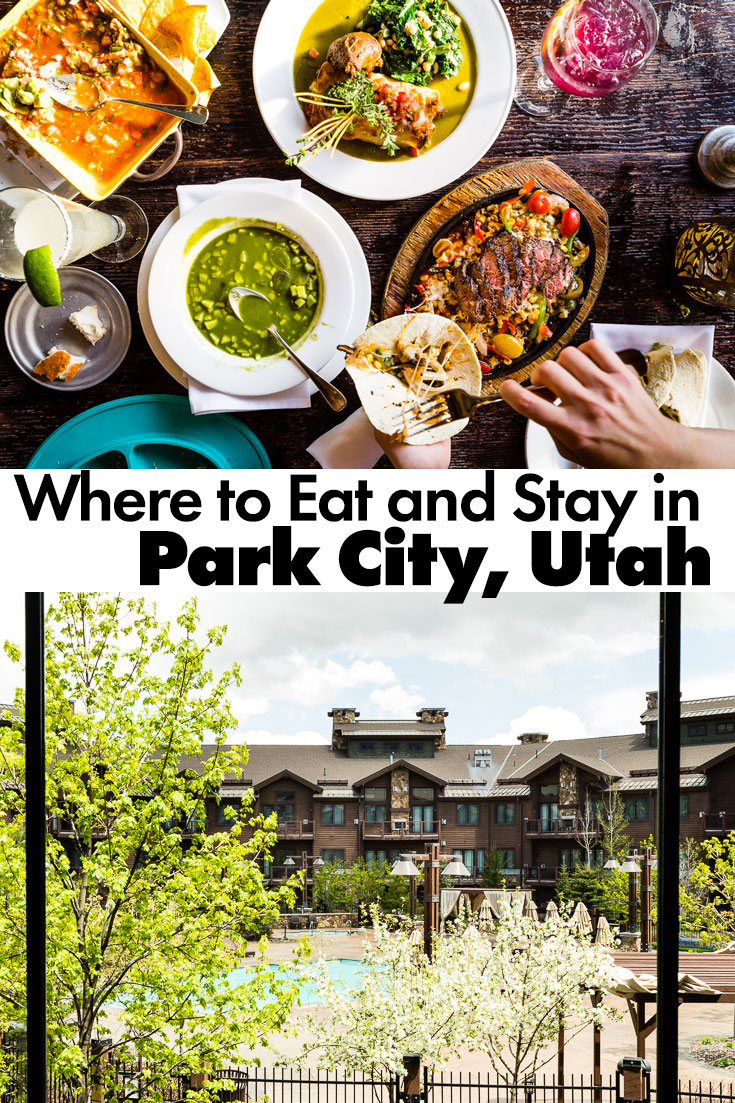 Where to Eat and Stay Park City, Utah. A guide to eating at the best restaurants in the beautiful mountain town of Park City, Utah. #parkcity #traveltips