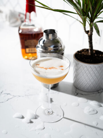 whiskey sour in coupe glass 3